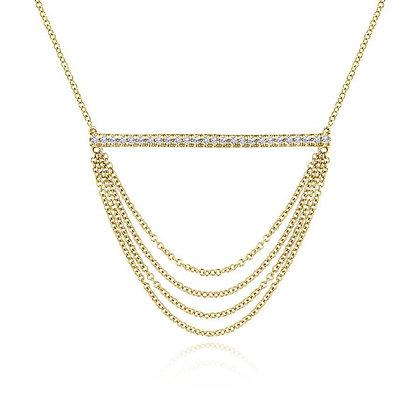 Diamond Chain Drape Necklace
