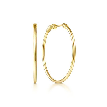 30mm Screwback Hoop Earrings