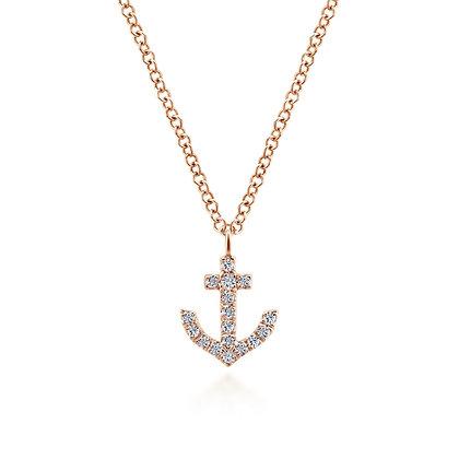 Anchor Diamond Pendant