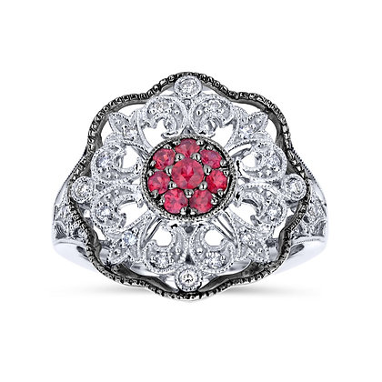 """Ruby & Sapphire """"Vintage"""" Ring"""