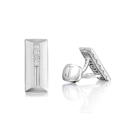 Initial-Back Diamond Cufflinks