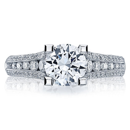 Graduating Diamond Side Shank Engagement Ring
