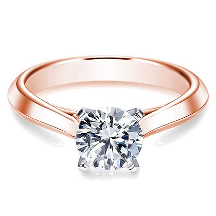 Knife-Edge Solitaire Semi-Mount Engagement Ring
