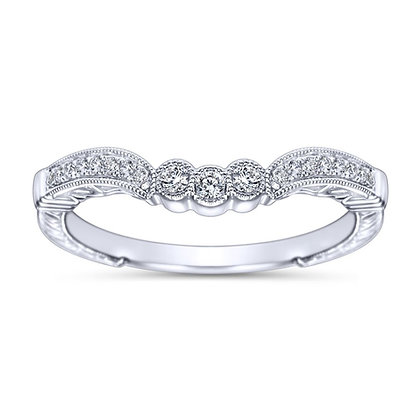 Curved Platinum Wedding Band