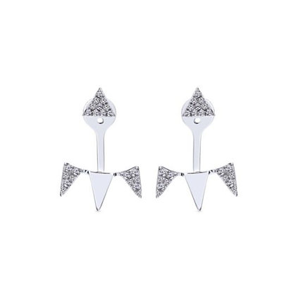 Diamond Spike Stud & Jacket Earrings