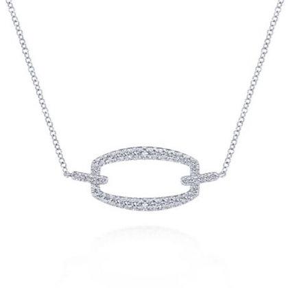 Rectangular Diamond Pendant