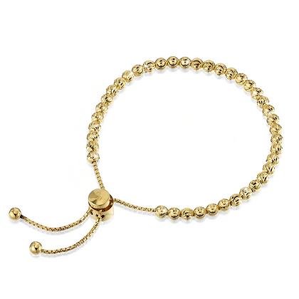 Diamond-cut Bead Tassel Bracelet