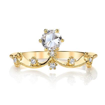"""Rose-cut Diamond """"Crown"""" Ring"""