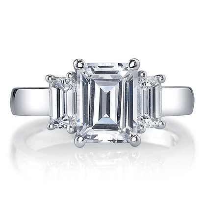 3-Stone Semi-Mount Engagement Ring