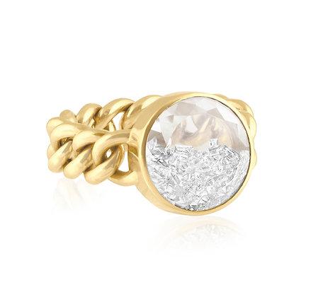 Diamond Shaker Curb Link Ring