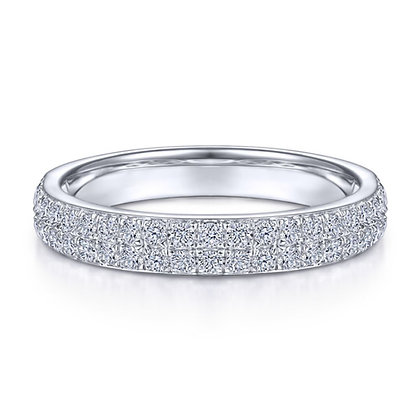 Double Row Micro Pavé Diamond Band