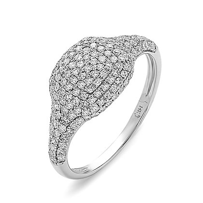 Diamond Pavé Cushion-Shape Ring