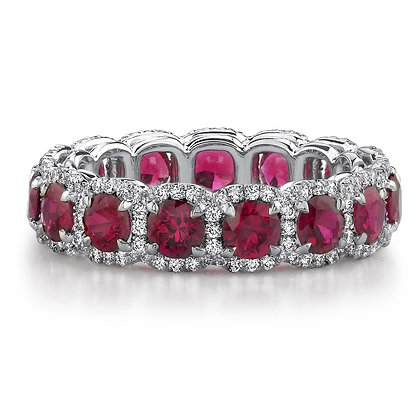 Ruby & Diamond Eternity Band