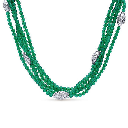Green Onyx 5-Strand Necklace