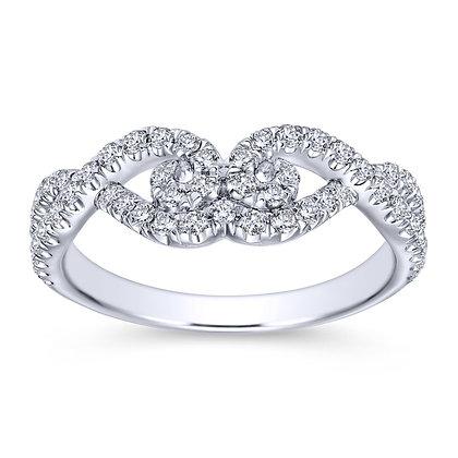 Swirling Diamond Pavé Wedding Band