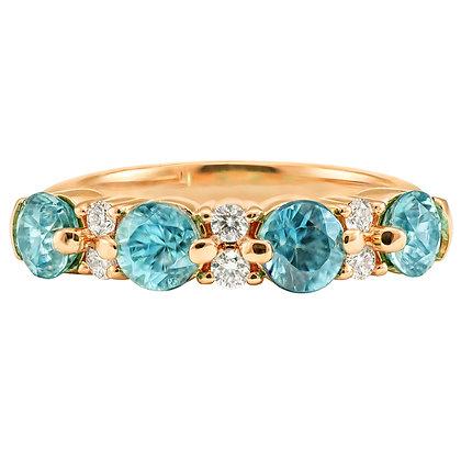 Zircon & Diamond Alternating Band