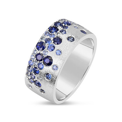 Blue Sapphire Scatter Band