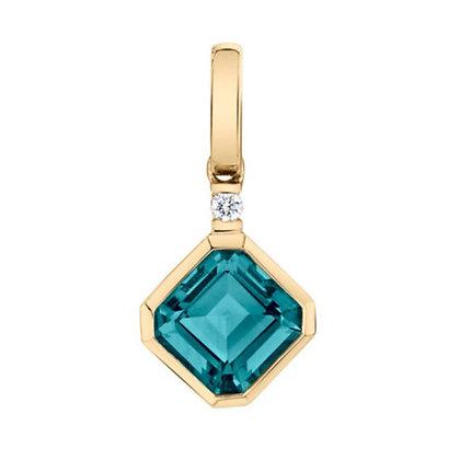 London Blue Topaz & Diamond Pendant