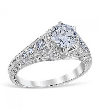"6-Prong ""Vintage"" Style Engagement Ring"