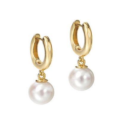 """Akoya Pearl """"Huggie"""" Earrings"""