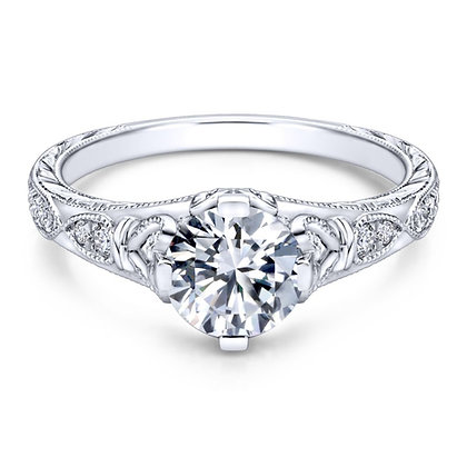 Vintage-Inspired Platinum Engagement Ring