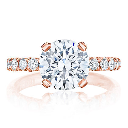 4-Prong Round Center Engagement Ring