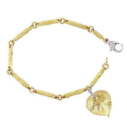 Olive Branch Bracelet with Diamond Accents