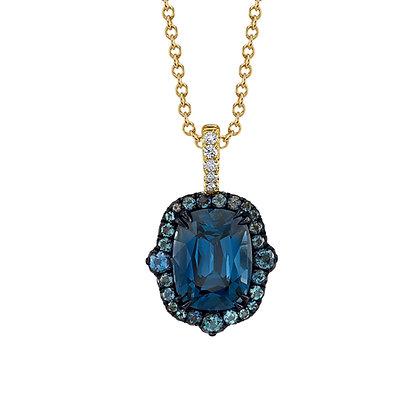 Blue Spinel & Alexandrite Pendant