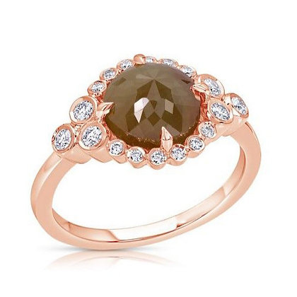 Rose-Cut Brown Diamond Ring