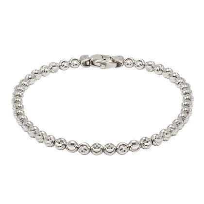 Diamond-Cut Bead Bracelet