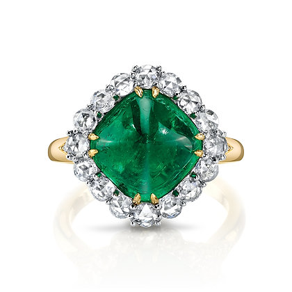 Emerald Sugarloaf Ring