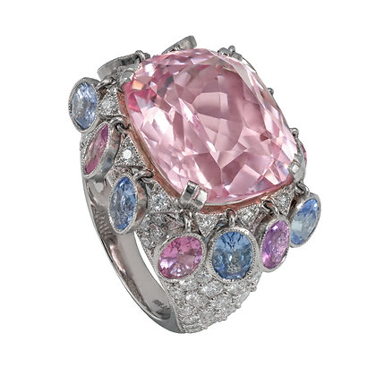 "Pink Sapphire ""Dancer"" Ring"