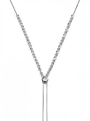 copy of Diamond-cut Bead Tassel Necklace