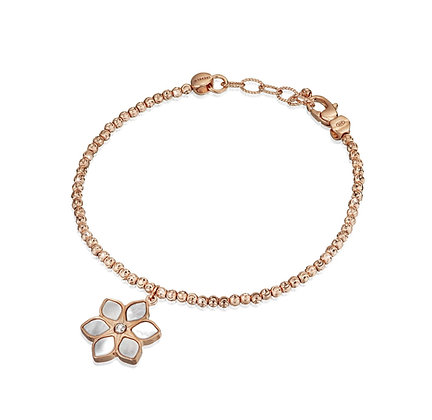 Mother-of-Pearl Flower Bracelet