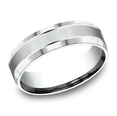 Beveled Edge Men's Wedding Band