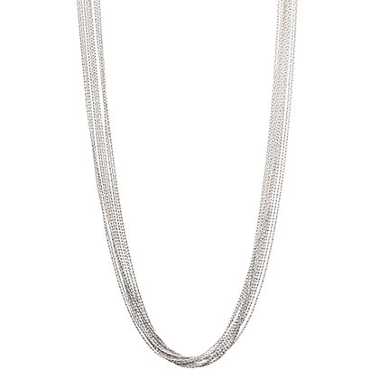 10-Strand Diamond-Cut Necklace