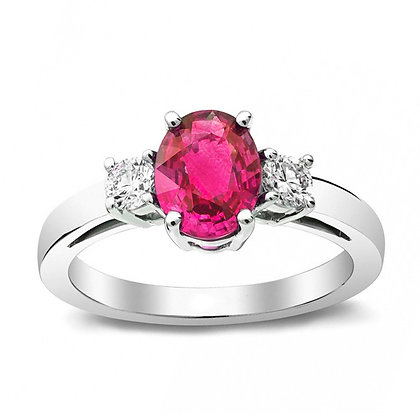 Pink Sapphire 3-Stone Ring