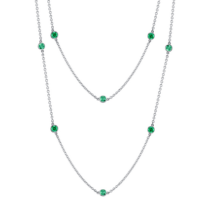 """Emerald """"Color-by-the-Yard"""" Necklace"""