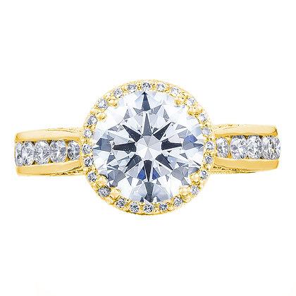 Diamond Channel Set Shank Engagement Ring