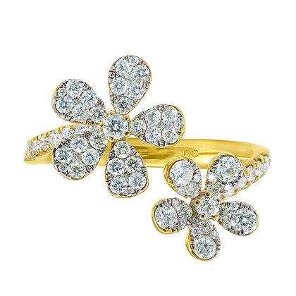 Diamond 2-Flower Open Band