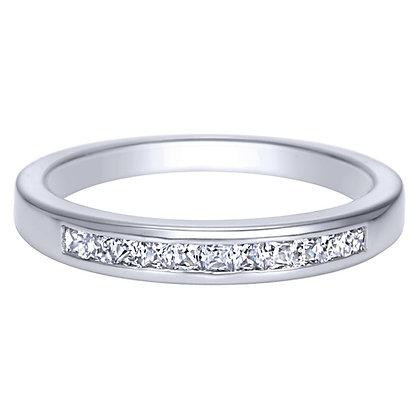Channel Set Princess Cut Diamond Wedding Band