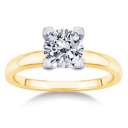 4-Prong Solitaire Semi-Mount Engagement Ring