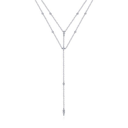 Diamonds-by-the-Yard 2-Row Lariat Necklace