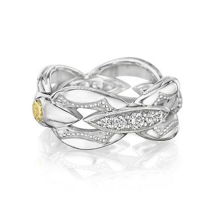 Oval Link Diamond Ring