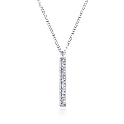 Diamond Vertical Milgrain Pendant