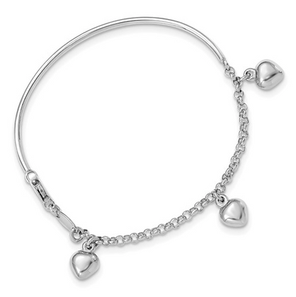 Heart Dangle Baby Bracelet