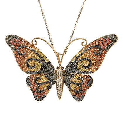 Monarch Butterfly Pendant & Brooch
