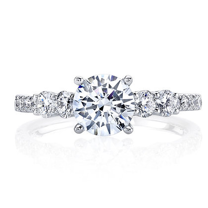 4 Side-Stone Round Engagement Ring