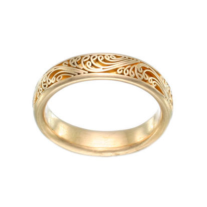Wave Filigree Band
