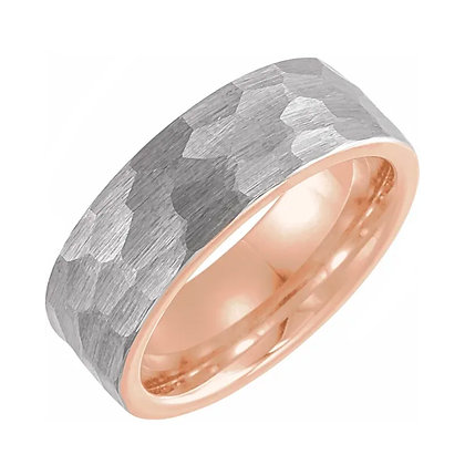 Hammered Men's Wedding Band